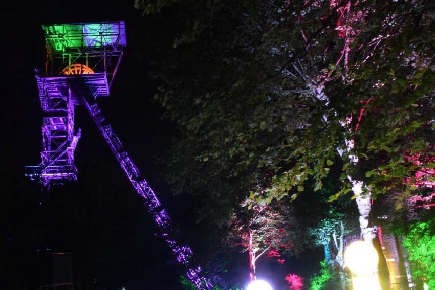 Lichtkunst im Kunstwald Teutoburgia.