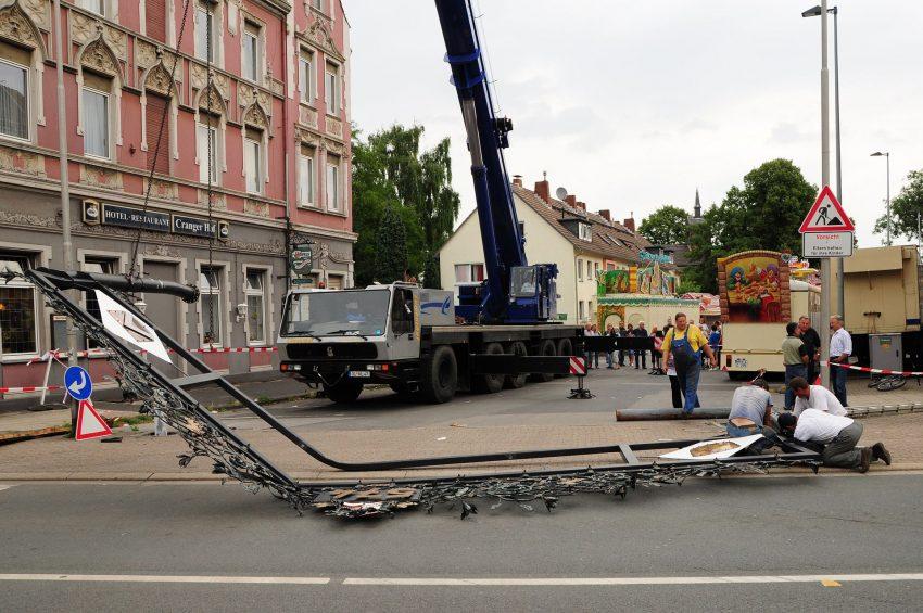 Unfall Cranger Tor am 1. August 2010