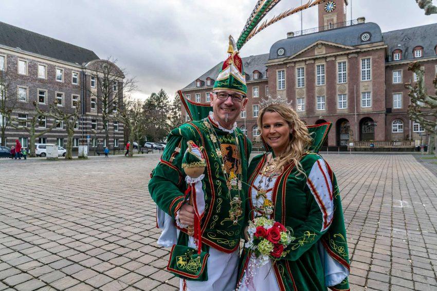 Das Karnevals-Prinzenpaar Andreas I. und Jennifer I.