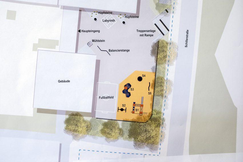 Plan zur Neugestaltung des Schulhofes der Schillerschule