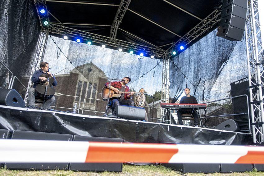 Kultur Open Air an den Flottmannhallen in Herne (NW), am Samstag (23.05.2020): Sebastian