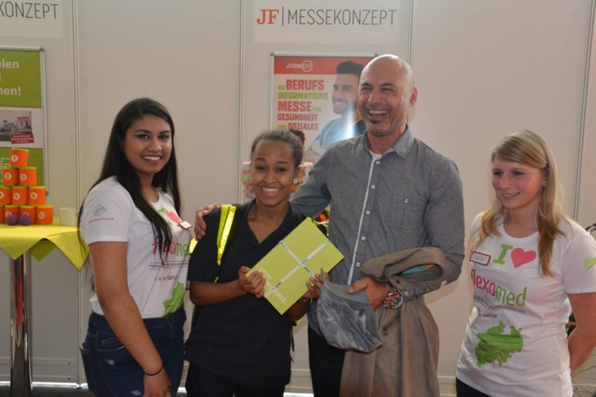 Besucher-und Ausstellerrekord auf der 6. Jobmedi 2017 in Bochum.