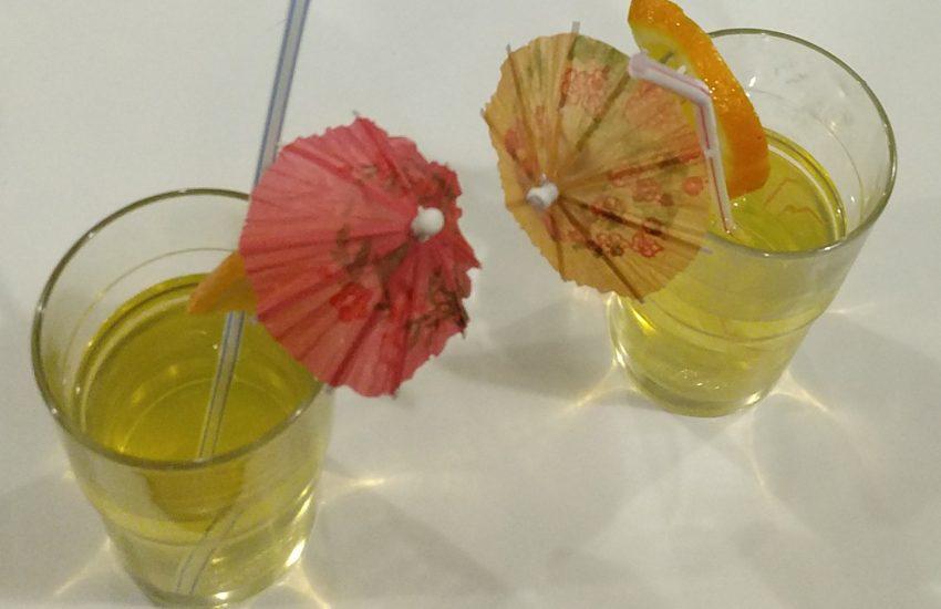 Leckere Saft-Cocktails können die Mädchen mixen.