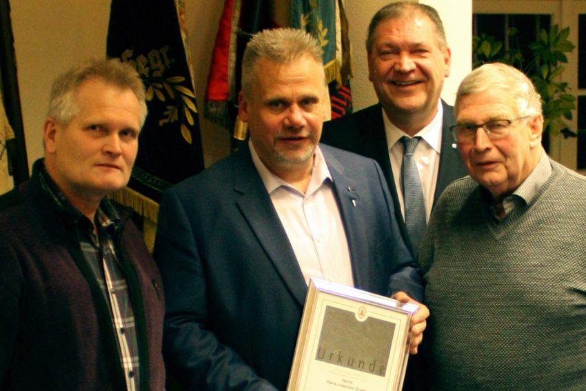 v.l. Roland Kram, Hans-Joachim Drath, Martin Klinger, Hugo Hellrung.