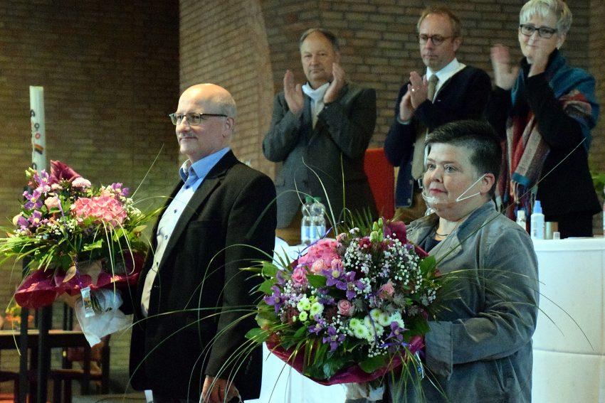v.l. Arno Wittekind und Claudia Reifenberg, die neue Superintendentin im Kirchenkreis Herne.
