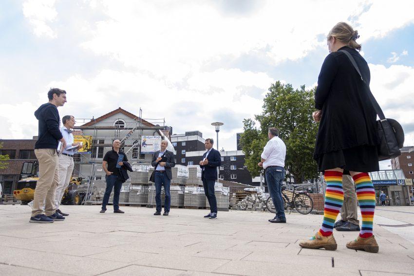 Pressekonferenz zur Umgestaltung des Europaplatzes in Herne (NW), am Mittwoch (29.07.2020).