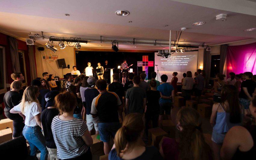 beim Ökumenischen Jugendgottesdienst.