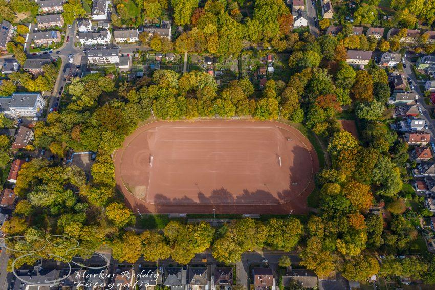 Das Horststadion aus der Luft.