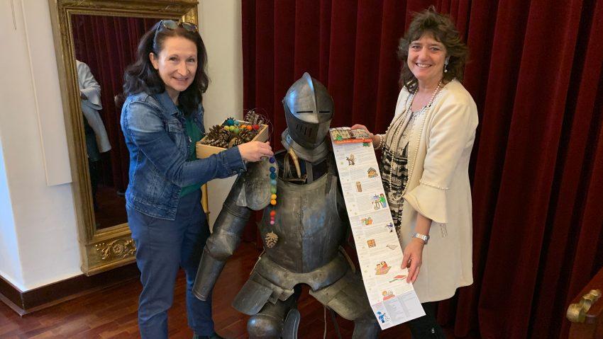 Die Organisatorinnen des Strünkeder Advents (v.li.) Andrea Prislan und Kirsten Katharina Büttner vom Emschertal-Museum.