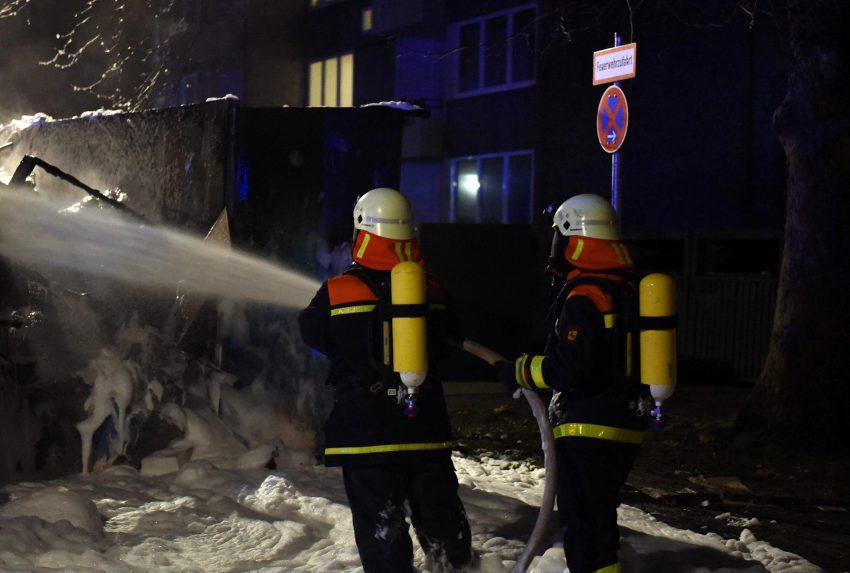 Feuerwehreinsatz an der Emscherstraße.
