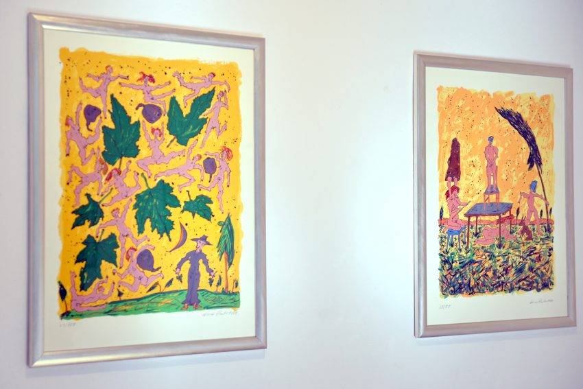 Arbeiten des Düsseldorfer Künstler Werner Reuben, der in der Städtischen Galerie ausstellt.