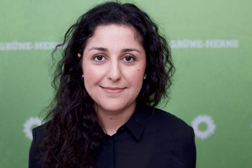 Tina Jelveh, stellvertretende Fraktionsvorsitzende der Grünen. (April 2021)