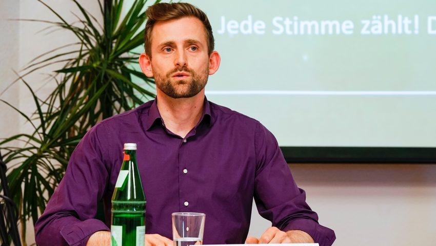 Herner Grüne Wahlkampfauftakt, OB Kandidat Pascal Krüger