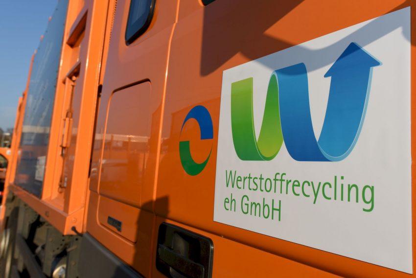 Müllwagen der Wertstoffrecycling.