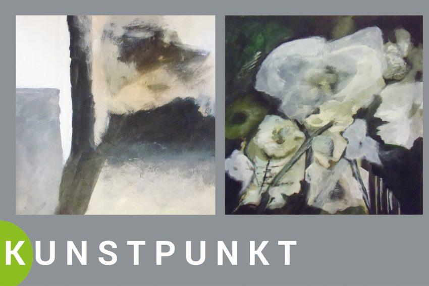 """Eva Stotz vom Herner Künstlerbund zeigt unter dem Thema """"Unwelt"""" ihre malerischen Werke."""