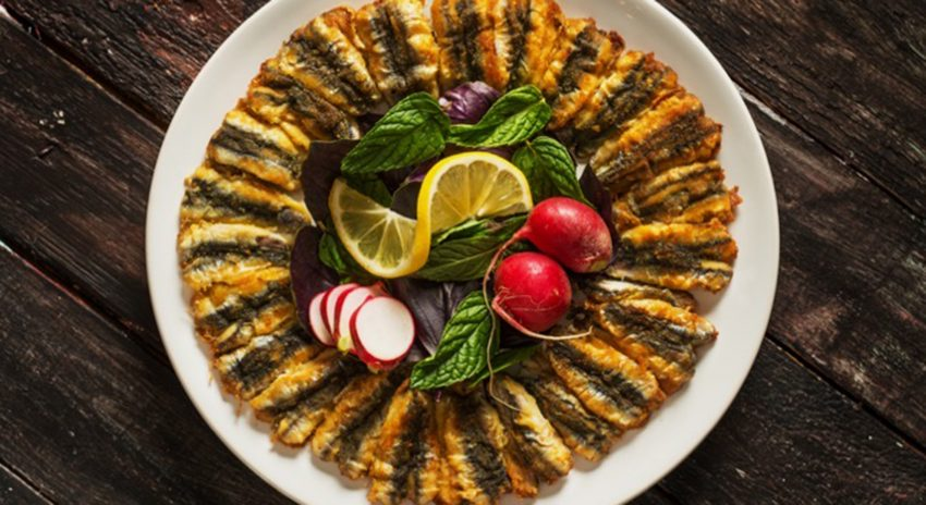 Ein Gericht mit Sardellen.