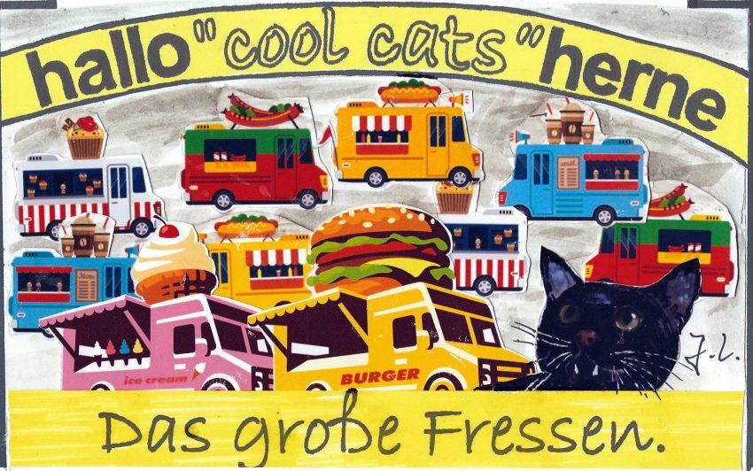 Die cool cats futtern mit.