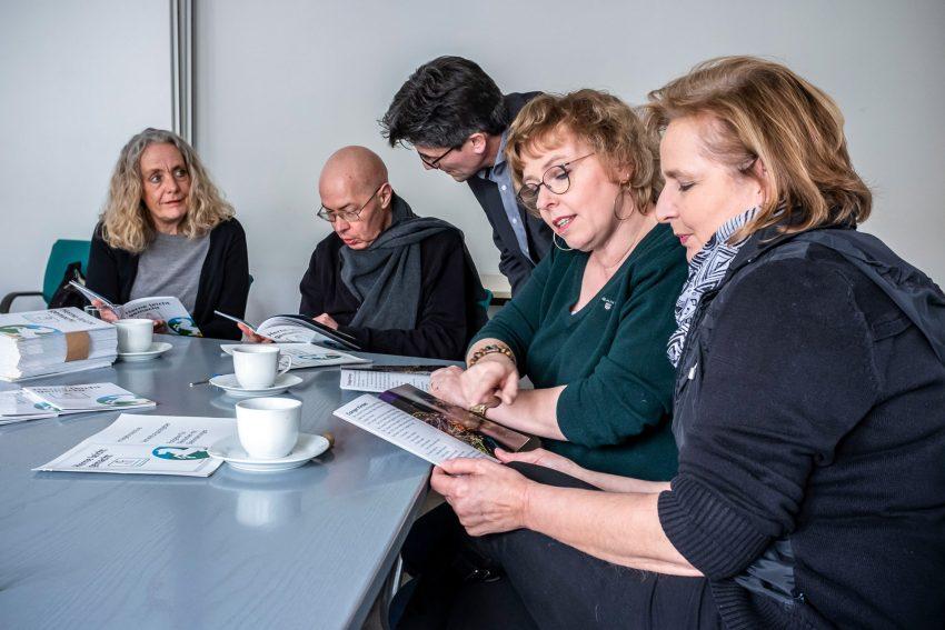 v.l. Bärbel König-Bargel, Dr. Ulrich Katter, Michael Paternoga (Pressebüro Herne), Kerstin Fischer-Friedhoff, Bärbel Schulte.