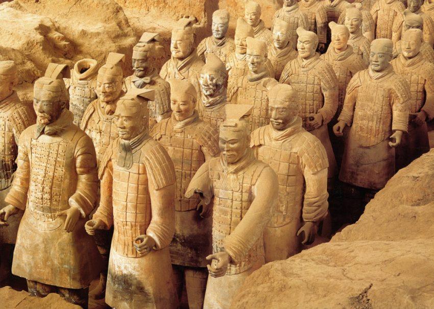 Die Terrakotta Armee.