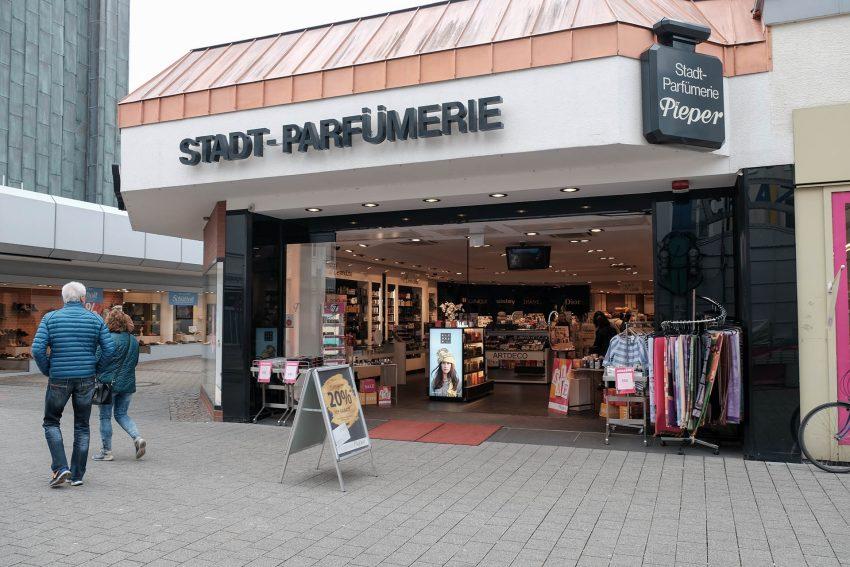 Modenschau bei Pieper an der Bahnhofstraße.