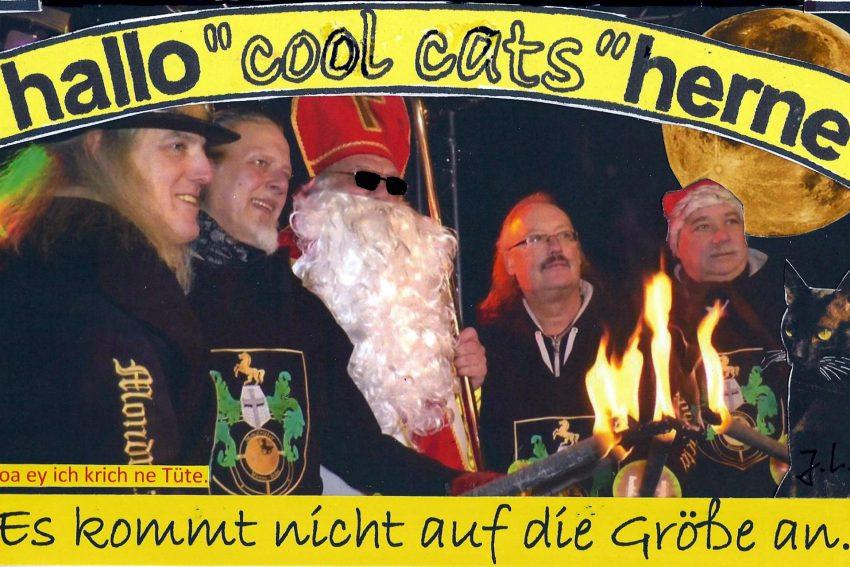 Die cool cats beim Nikolaus und den Mondrittern.