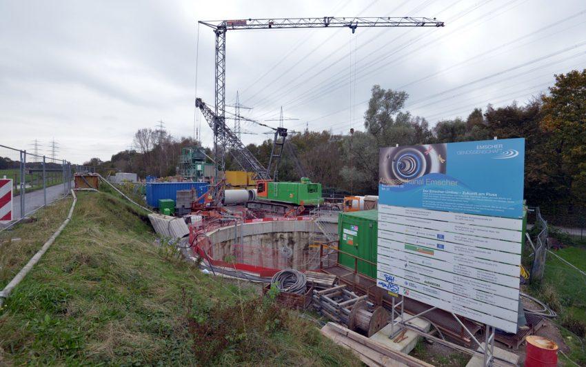 Baustelle des AKE an der Wiedehopfstraße. (Archiv)
