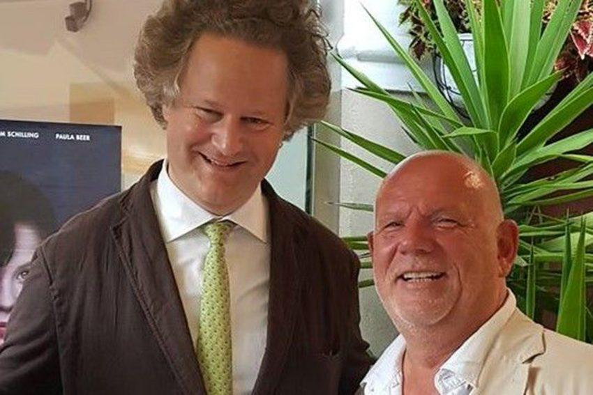 v.l. Regiesseur Florian Henckel von Donnersmarck, Thomas Nückel.