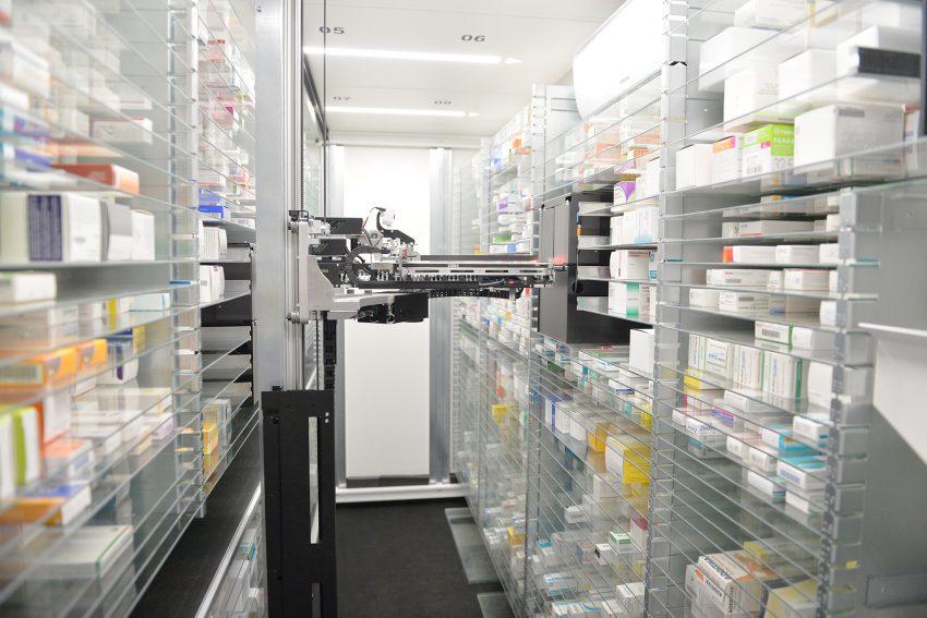 Der temperaturüberwachte Medikamenten-Lagerraum.
