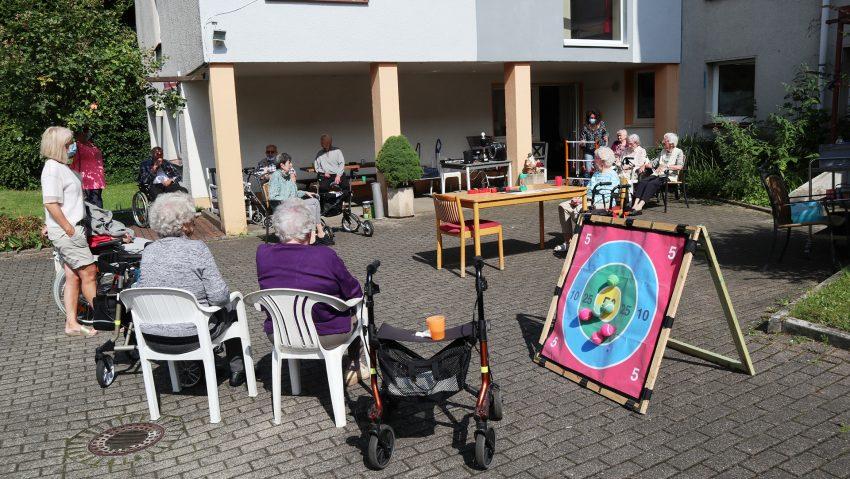 Bewegungsparcours für Körper und Geist am Eva-von-Tiele-Winckler-Haus.