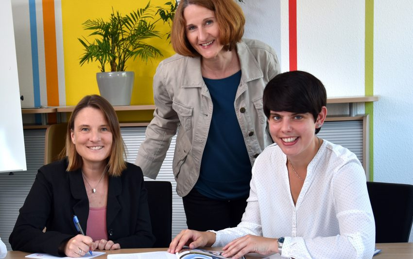 v.l. Natalia Keller, Judith Brinkmann und Daniela Engelbracht von der KuB.