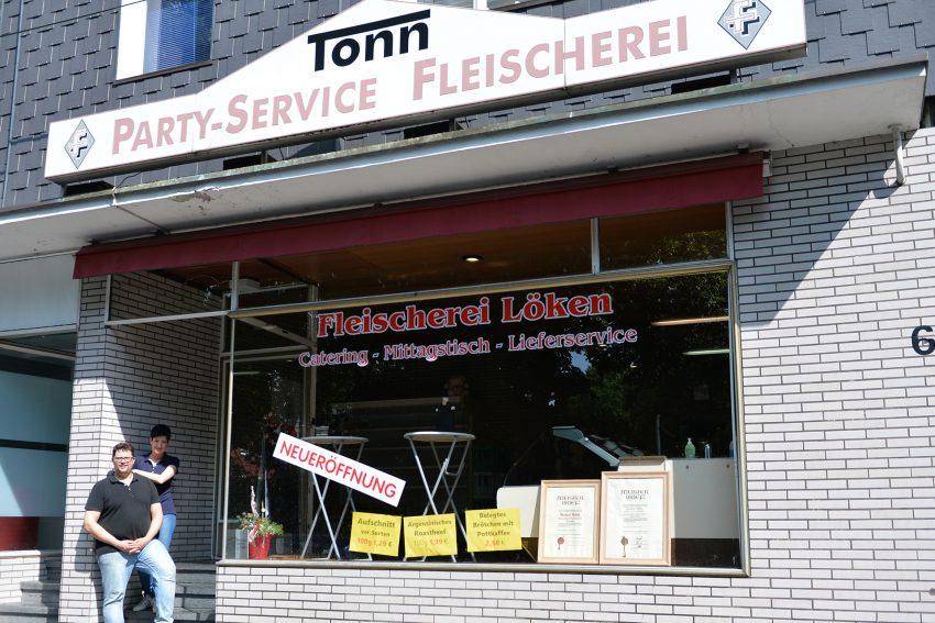 v.l. Jasmin Mehle und Metzgermeister Christian Mehle haben die Fleischerei Tonn übernommen.