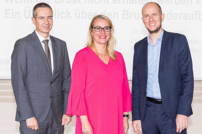 v.l. Prof. Dr. Marcus Lehnhardt, Dr. Katja Engellandt und Dr. Harald Krentel.