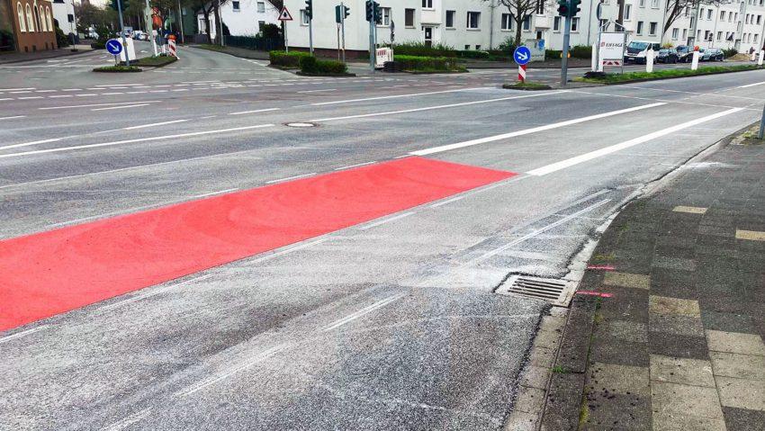 So sieht der neue Radweg aus.