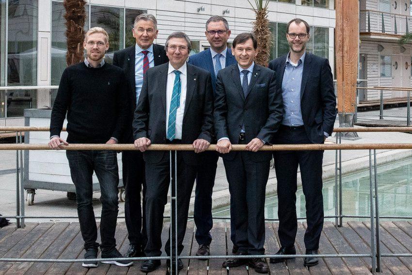 v.l. Nils Stentenbach, Prof. Jürgen Bock, Prof. Wilhelm Schwick, Dietmar Spohn, Dr. Frank Dudda, Prof. Bernd Kriegesmann.
