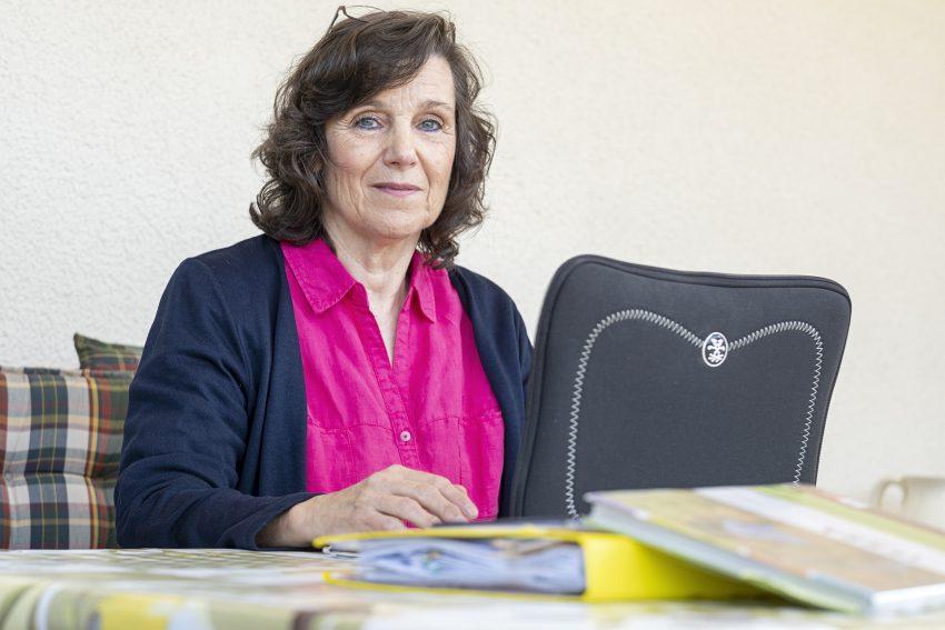 Marita Cramer, Lehrerin aus Herne (NW), am Samstag (10.04.2020). Sie unterrichtet an einer Realschule in Bottrop und berichtet über ihre Erfahrungen vom digitalen Lernen und Unterricht in Zeiten von Corona.