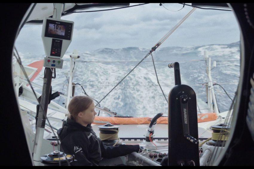 Greta bei der Segelreise zum Klimagipfel in New York.