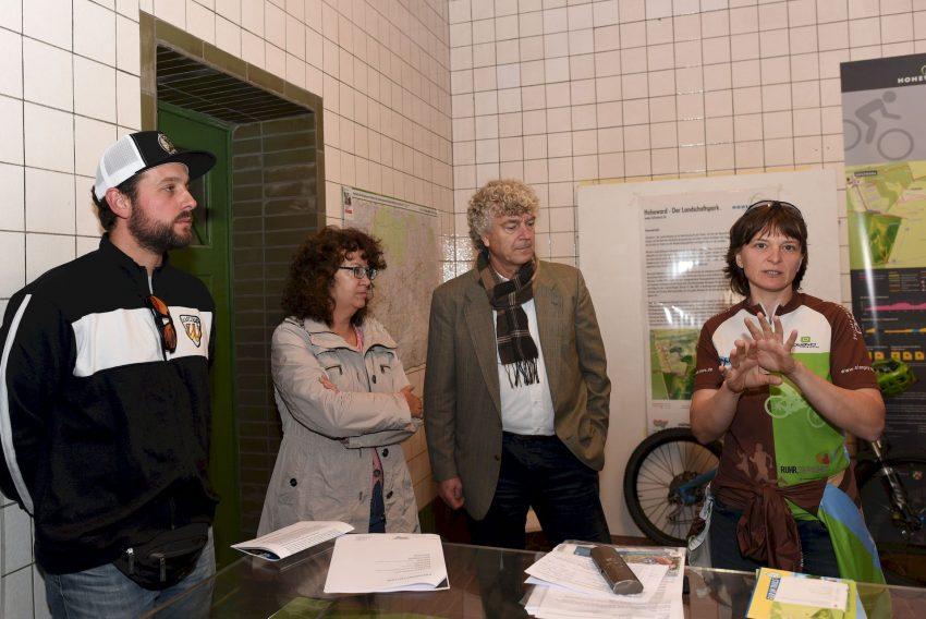 Daniel Dellen (FRC Herten), Barbara Klask (RVR), Ulrich Carow (RVR) und Melanie Hundacker (simply out mountainbike)
