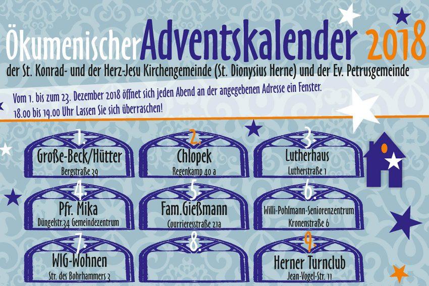 Einladung zum ökumenischen Adventskalender.
