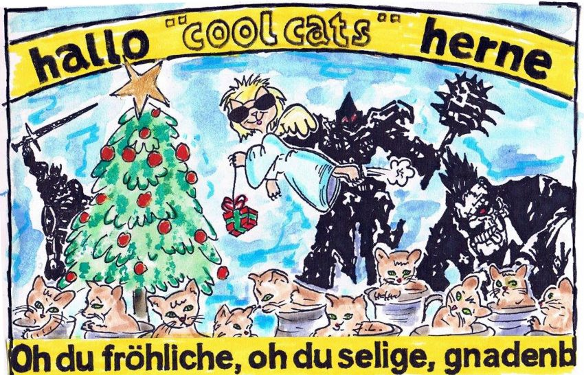 Die cool cats zu Weihnachten.