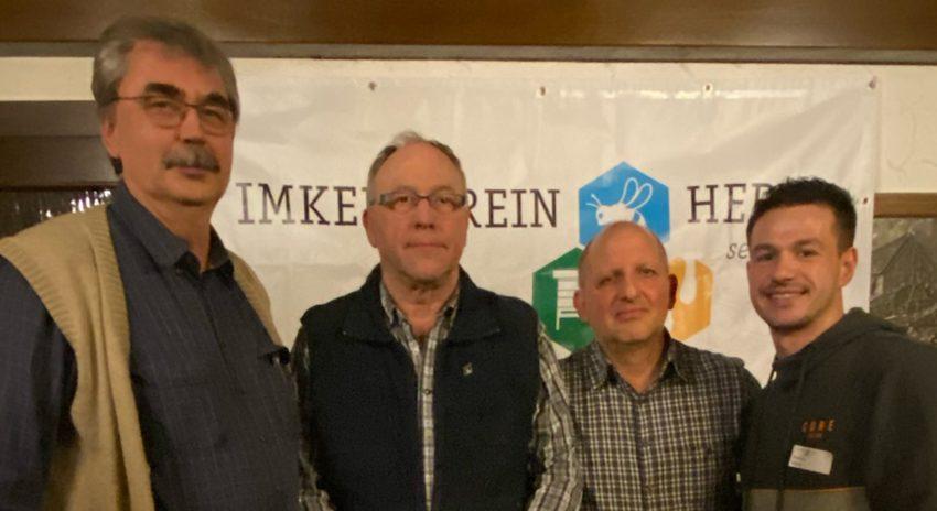 v.l. Hartmut Thiel, Robert Wandelt, Gerd Salomon und Dennis Ritter (Vereinsvorsitzender).