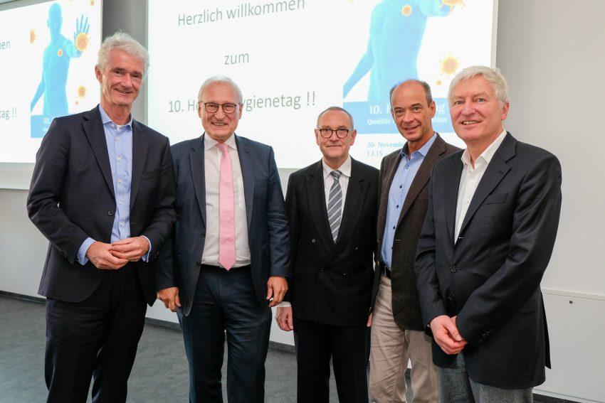 v.l. Prof. Dr. Sebastian Lemmen, Wolfgang Merkens, Prof. Dr. Eckgard Müller, Prof. Dr. Dr. André Gessner und Prof. Dr. Martin Mielke.
