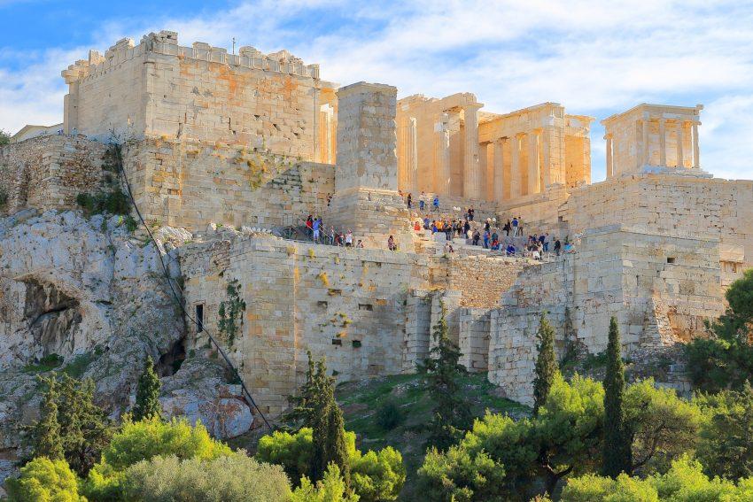 Die Akropolis.