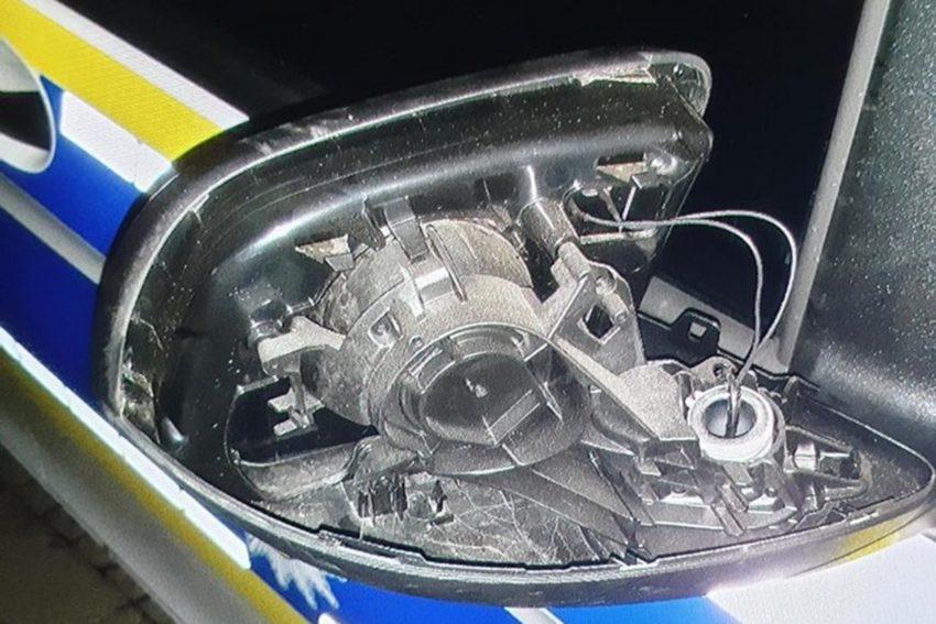 26-Jähriger zerstörte den Außenspiegel eines Einsatzfahrzeuges der Bundespolizei.