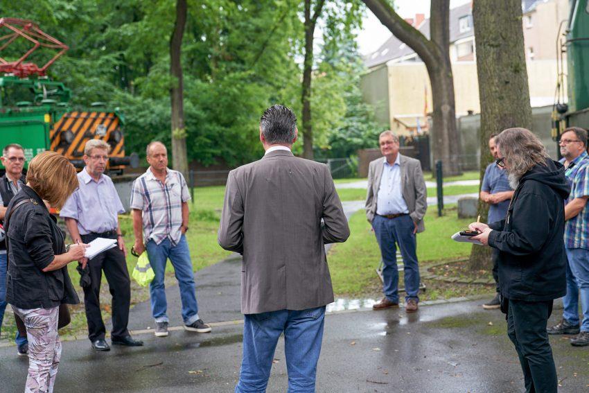 SPD Ortstermin am neuen Standort Jugendverkehrsschule.