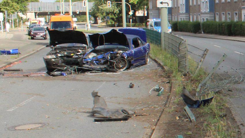 Unfall auf dem Westring am 20.8.2020.