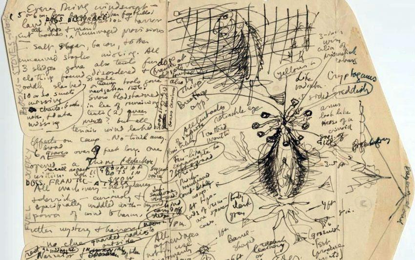 Notizen von H.P. Lovecraft.
