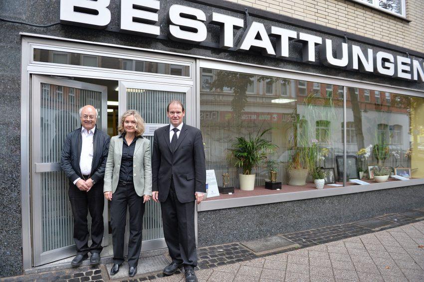 v.l. Hans-Joachim Schmidt, Dorothee Grafe, Klaus Grafe.