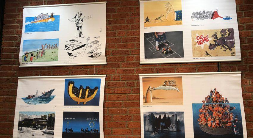 Karikaturen zum Thema Flucht, Migration und Fluchtursachen