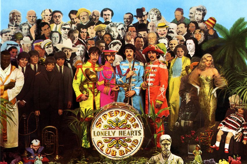 Plattencover The Beatles zu Sgt. Pepper's Lonely Hearts Club Band.