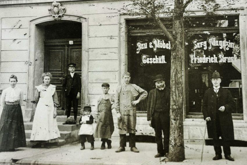 Ein Foto aus den Anfangsjahren der 146 jährigen Geschichte des Traditionsunternehmen.